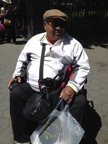 "Israel- who gave me a history on Tompkins Square Park: ""People get angry when they don't have something to eat."""